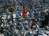 Bicycles Parked Next to Central Railway Station, Malmo, Skane, Sweden Photographic Print by Martin Lladó