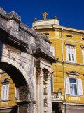 Roman Triumphal Arch of Sergius, Pula, Croatia Photographic Print by Wayne Walton