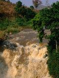 Rusomo Waterfall on Akagera River Near Border Tanzanian Tanzania, Rusumo, Rwanda Photographic Print by Ariadne Van Zandbergen