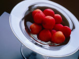 Plums in Glass Dish, Japan Photographic Print by John Hay