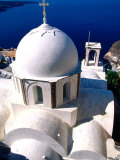 Orthodox Church, Fira, Greece Photographic Print by John Elk III