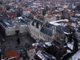 Buildings from Belfry, Bruges, Belgium Photographic Print by Jean-Bernard Carillet
