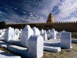 Arab Cemetery, Sousse, Tunisia Photographic Print by Wayne Walton