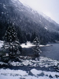 Winter at Lake, Lake Morskie Oko, Poland Photographic Print by Pershouse Craig