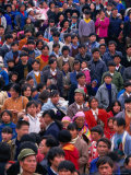 Large Crowd Gathered for Festival, Nankai, China Photographic Print by Keren Su