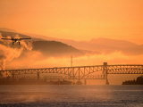Second Narrows Bridge at Burrard Inlet in Vancouver Harbour, Vancouver, Canada Photographic Print by Manfred Gottschalk