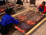 Ikat Weaving at Watumbakala Village, Indonesia Photographic Print by Wayne Walton