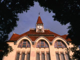 The Ujkollegium (New College) Through Leaves, Kecsekemet, Hungary Photographic Print by Martin Moos