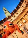Orange Octopus Over the Entrance to the Aquarium, County Hall, London, United Kingdom Photographic Print by Charlotte Hindle