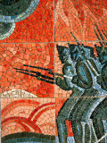 Detail of Mosaic at Borodino Panorama, Moscow, Russia Photographic Print by Jonathan Smith