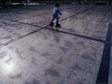 Roller Blader in Tuanjiehu Park Bejing, China Photographic Print by Phil Weymouth