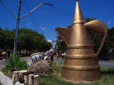 Roadside Teapot Sculpture, Mombasa, Kenya Photographic Print by Wayne Walton