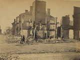 Ruins in Richmond, Virginia, c.1865 Photo af Andrew J. Johnson