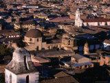 City Buildings and Belltower of Santa Apolina, Cajamarca, Cajamarca, Peru Photographic Print by Paul Kennedy