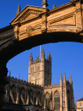 Looking Through Archway Over York Street to the Bath Abbey, Bath, United Kingdom Photographic Print by Charlotte Hindle