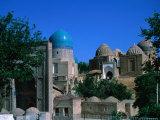 Shahr-I-Zindah Tombs, Uzbekistan Photographic Print by Martin Moos