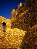 Detail of 15th Century Ramparts, Asilah, Morocco Photographic Print by Damien Simonis