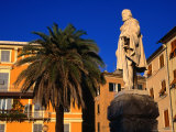 Statue in Town, Pegli, Italy Photographic Print by Wayne Walton