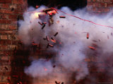 Firecrackers Explode During Celebrations for Chinese New Year in Chinatown, Melbourne, Australia Photographic Print by Dallas Stribley
