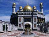 Jame'Asr Hassan 11 Bolkiah Mosque, Bandar Seri Begwan, Brunei Photographic Print by Jane Sweeney