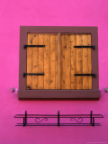 Window of Brightly Painted Alsatian House, France Photographic Print by Frances Linzee Gordon