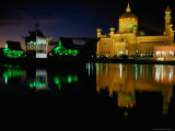 Ali Saifuddin Mosque at Night, Bandar Seri Begwan, Brunei Photographic Print by Jane Sweeney