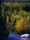 Travelling Through Autumn Landscape, Colorado, USA Photographic Print by Mark Newman
