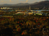 High View of Parliment House, from Red Hill, Canberra, Australia Photographic Print by Trevor Creighton