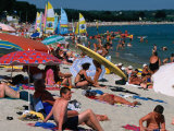 Cape Coz Beach in July, Fouesnant, Brittany, France Photographic Print by Jean-Bernard Carillet
