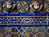 Detail of 18th Century Tilework in Church, Mexico Photographic Print by Jeffrey Becom