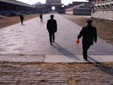 Men Walking Through Forbidden City, Dongcheng Bejing, China Photographic Print by Phil Weymouth