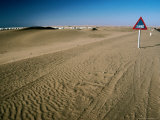 Suburb Surrounded by Sand, Walvis Bay, Namibia Photographic Print by Peter Ptschelinzew