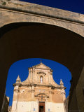 Entrance to Facade to Cathedral of Victoria, Malta Photographic Print by Patrick Syder