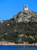 Torre Di Porto Guinco Overlooking Beach at Portu Giunco, Sardinia, Italy Photographic Print by Dallas Stribley