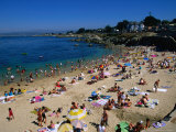People on Beach, Monterey Bay, USA Photographic Print by John Elk III