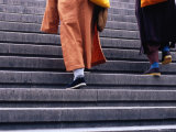 Monks Ascending Stairs in Dongcheng District Bejing, China Photographic Print by Phil Weymouth