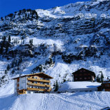 Hotels in the Upmarket Resort Town of Lech in Western Arlberg, Vorarlberg, Austria Photographic Print by Christian Aslund