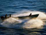 Fishermen Steering Boat Over Sandbar, Buchupureo, Biobio, Chile Photographic Print by Paul Kennedy