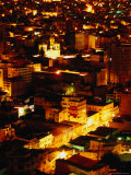 Iglesia De San Francisco and City from Cerro Quilli'Quilli at Night, La Paz, Bolivia Photographic Print by Ryan Fox