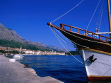 Traditional Schooner in Markarska Harbour, Makarska, Split-Dalmatia, Croatia Photographic Print by Jan Stromme