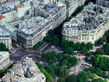 Overhead of Streets and Buildings from the Eiffel Tower, Paris, France Photographic Print by Rodney Hyett