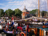 Holiday Boats in Marina, Enkhuizen, Netherlands Photographic Print by Charlotte Hindle