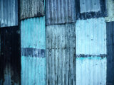 Sheets of Corrugated Iron on Village House, Vanuatu Photographic Print by Dallas Stribley