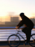 Biker on Seaside Trail by False Creek, Vancouver, Canada Photographic Print by Ryan Fox