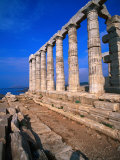 Superb Ruins of the 4th Century BC Temple of Poseidon on the Apollo Coast, Athens, Attica, Greece Photographic Print by Jan Stromme