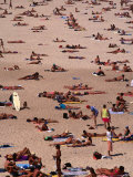 Sunbathers on Bondi Beach, Sydney, Australia Photographic Print by Oliver Strewe