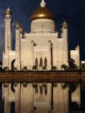 Ali Saifuddin Mosque, Bandar Seri Begwan, Brunei Photographic Print by Jane Sweeney