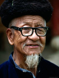 Portrait of Man, Looking at Camera, Yangshuo, China Photographic Print by Frank Carter