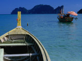 Boats and Ko Phi Phi Leh in Distance on Southern Andaman Coast, Krabi, Thailand Photographic Print by Dallas Stribley