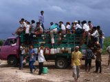 Truck Full of Passengers, Sumba, East Nusa Tenggara, Indonesia Photographic Print by Jane Sweeney
